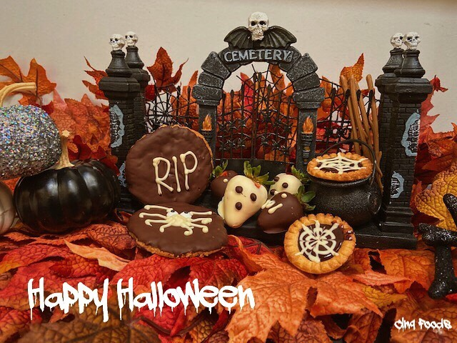 Happy Halloween from Cinq Foods!  Featuring some of our spooky treats.