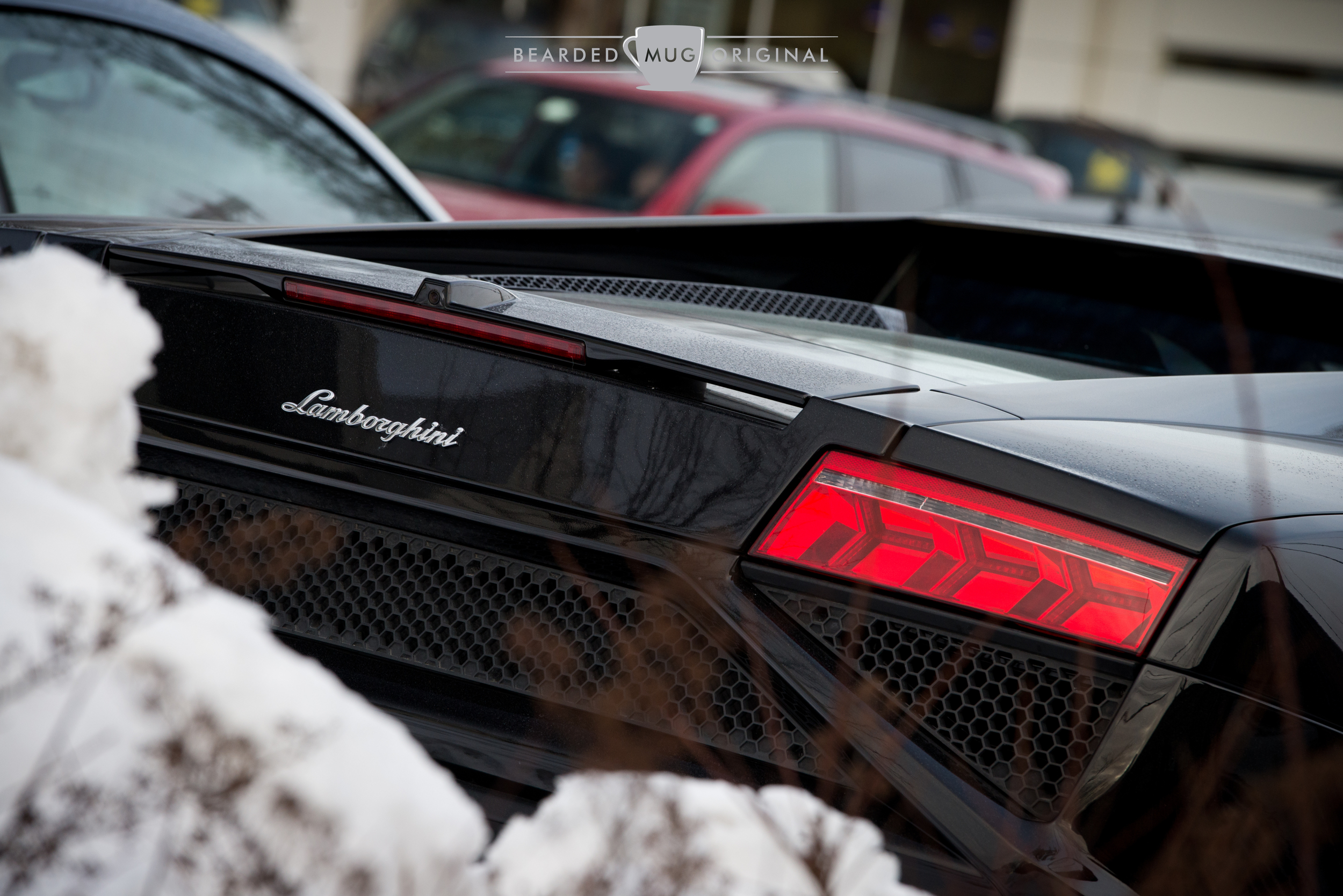 The Lamborghini Gallardo LP560-4 is an angular example of what can be a daily-driven supercar, inconspicuously outfitted with a reverse camera.