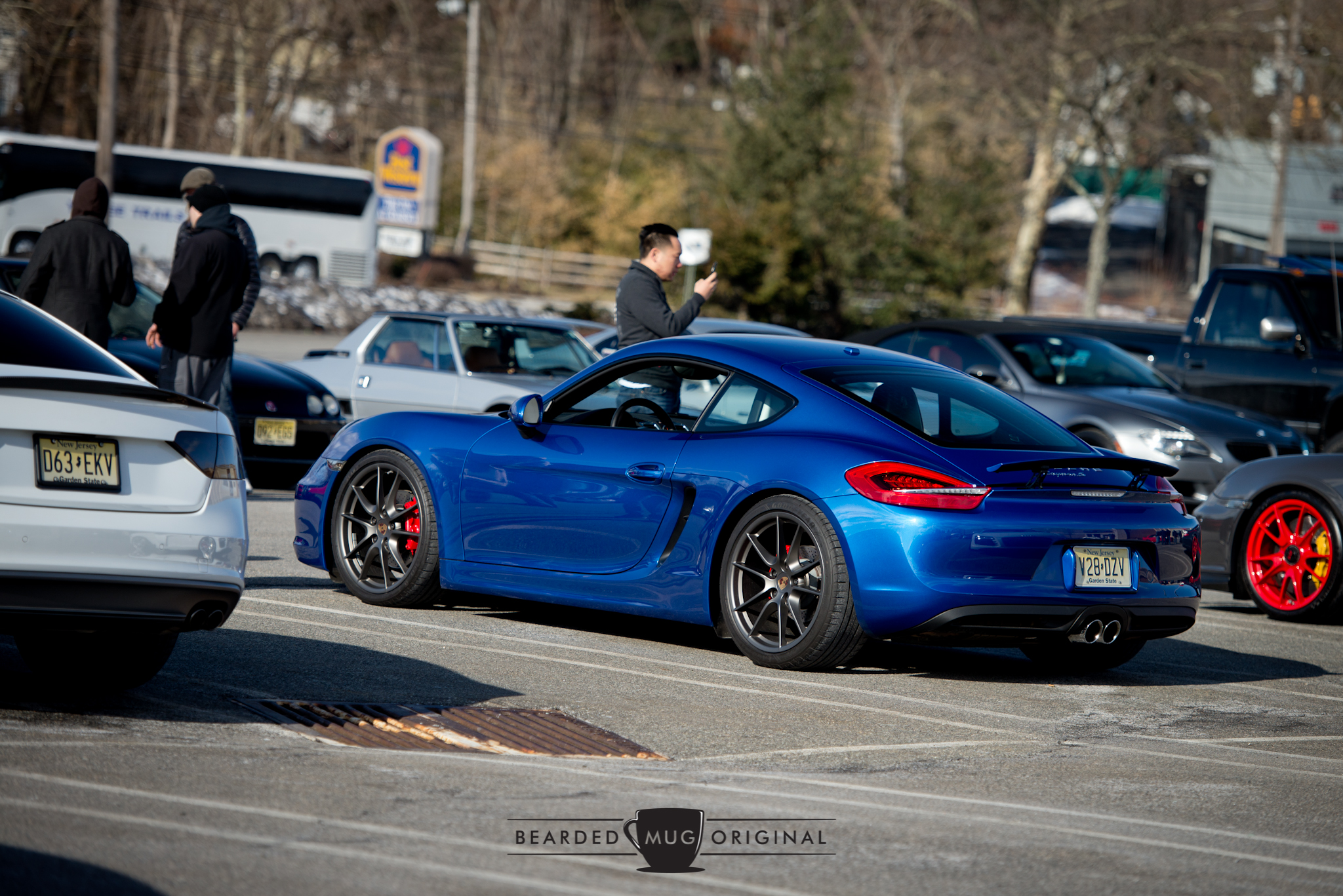 Sapphire blue Cayman S is becoming a staple to the C&C events.