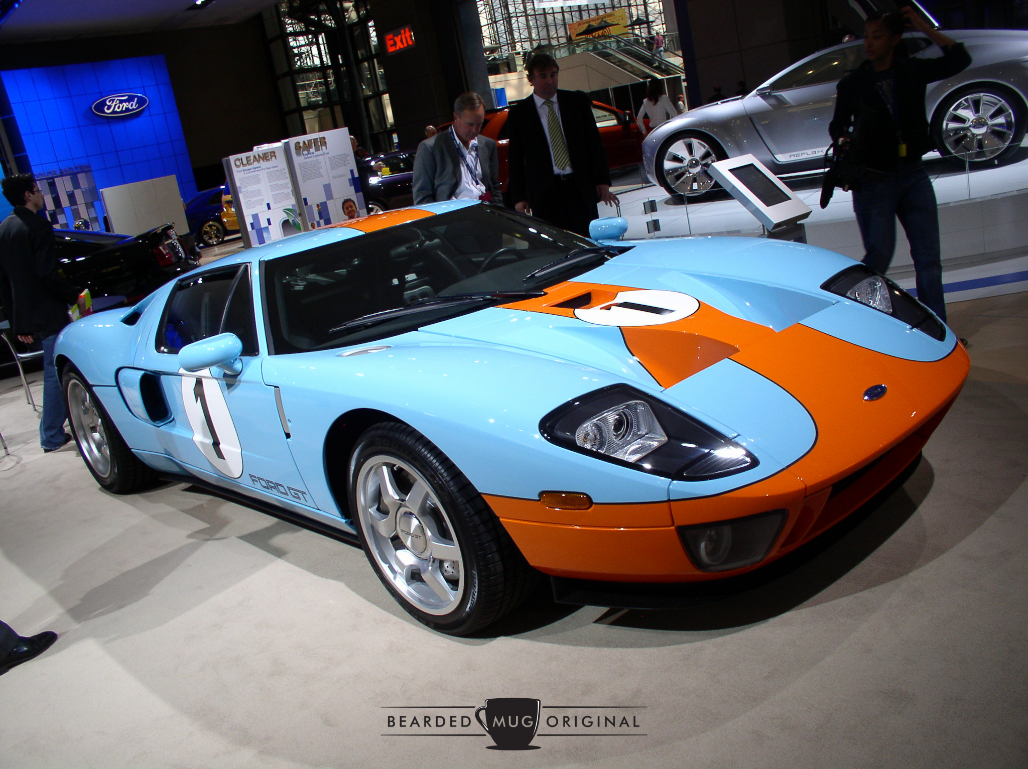 The new Ford GT looked stunning in the Gulf livery.