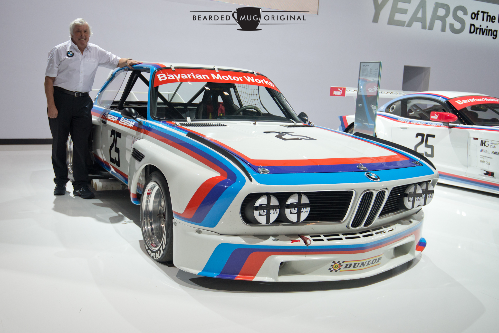 To celebrate 40 years of racing, BMW brought out their 1975 3.0 CSL, along with its driver Brian Redman.