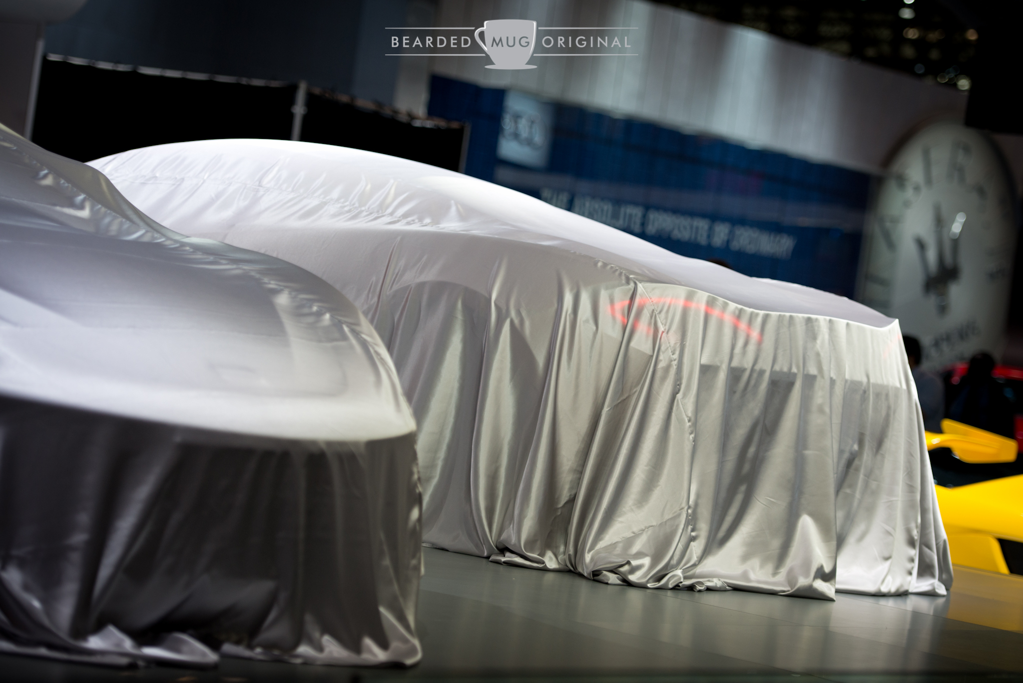Under wraps: The world premiere of the McLaren 570S was just after my departure from the show.