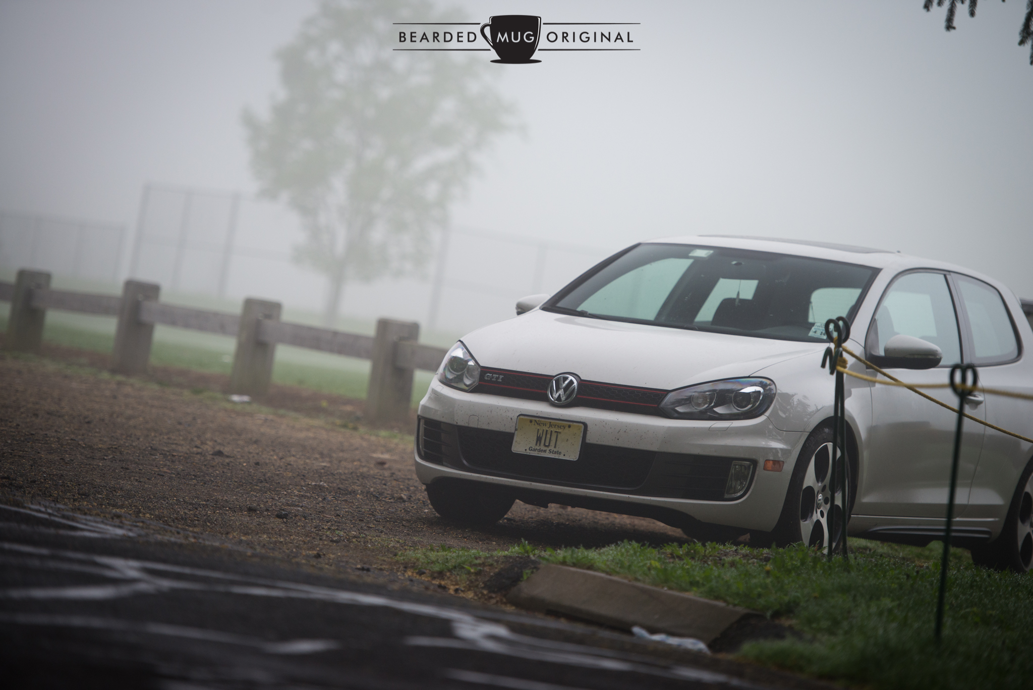 Here's your photographic proof that the WUTmobile arrived before everyone else. And check out that fog!