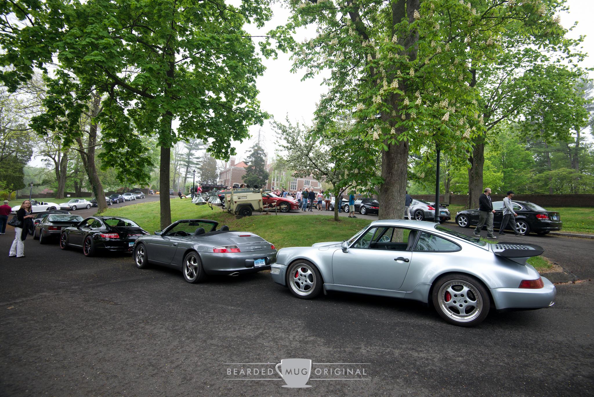 Porsches for days.
