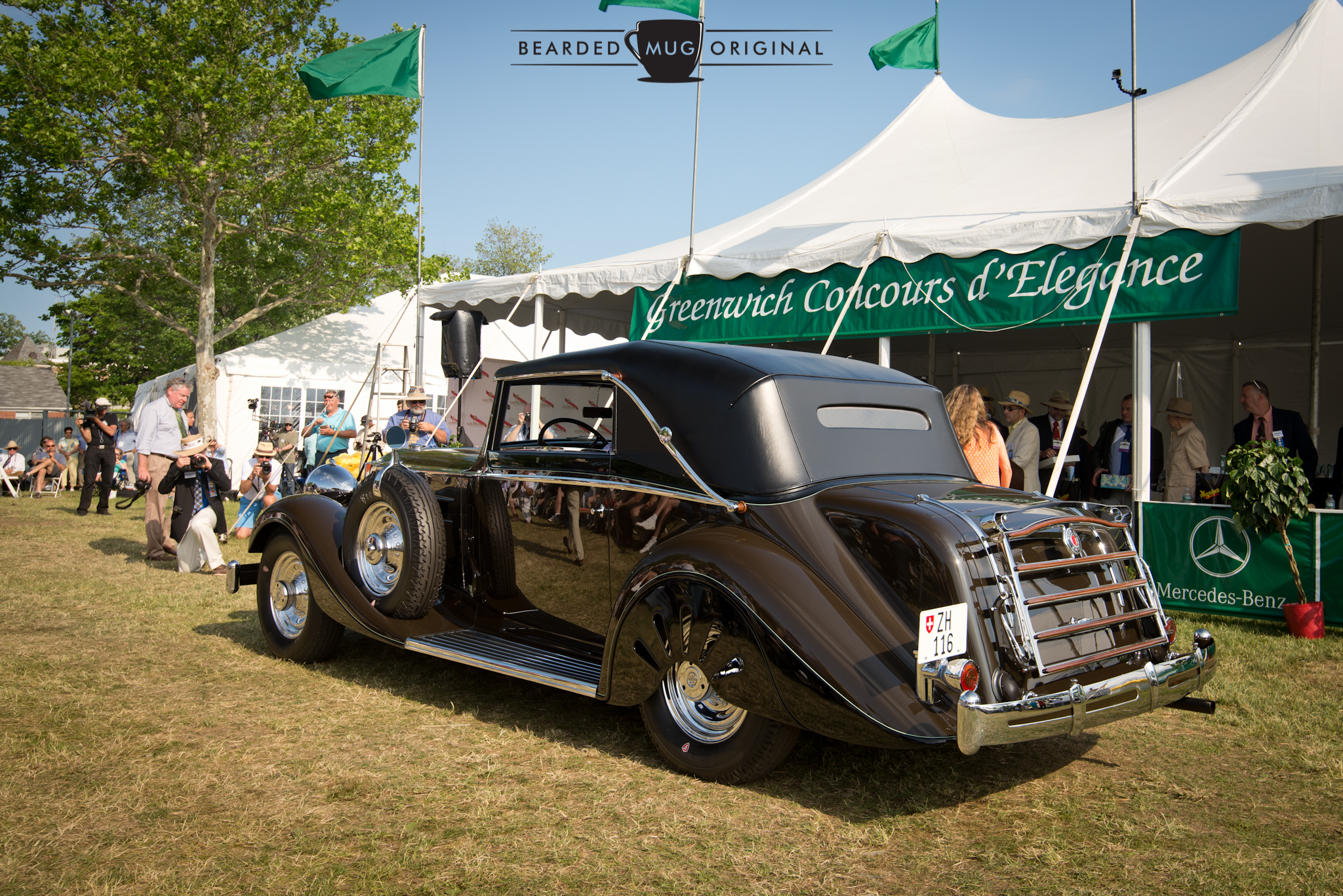 The stunningly unique 1935 Graber-bodied Packard Model 1201 Convertible that took Best of Show for the Concours Americana.