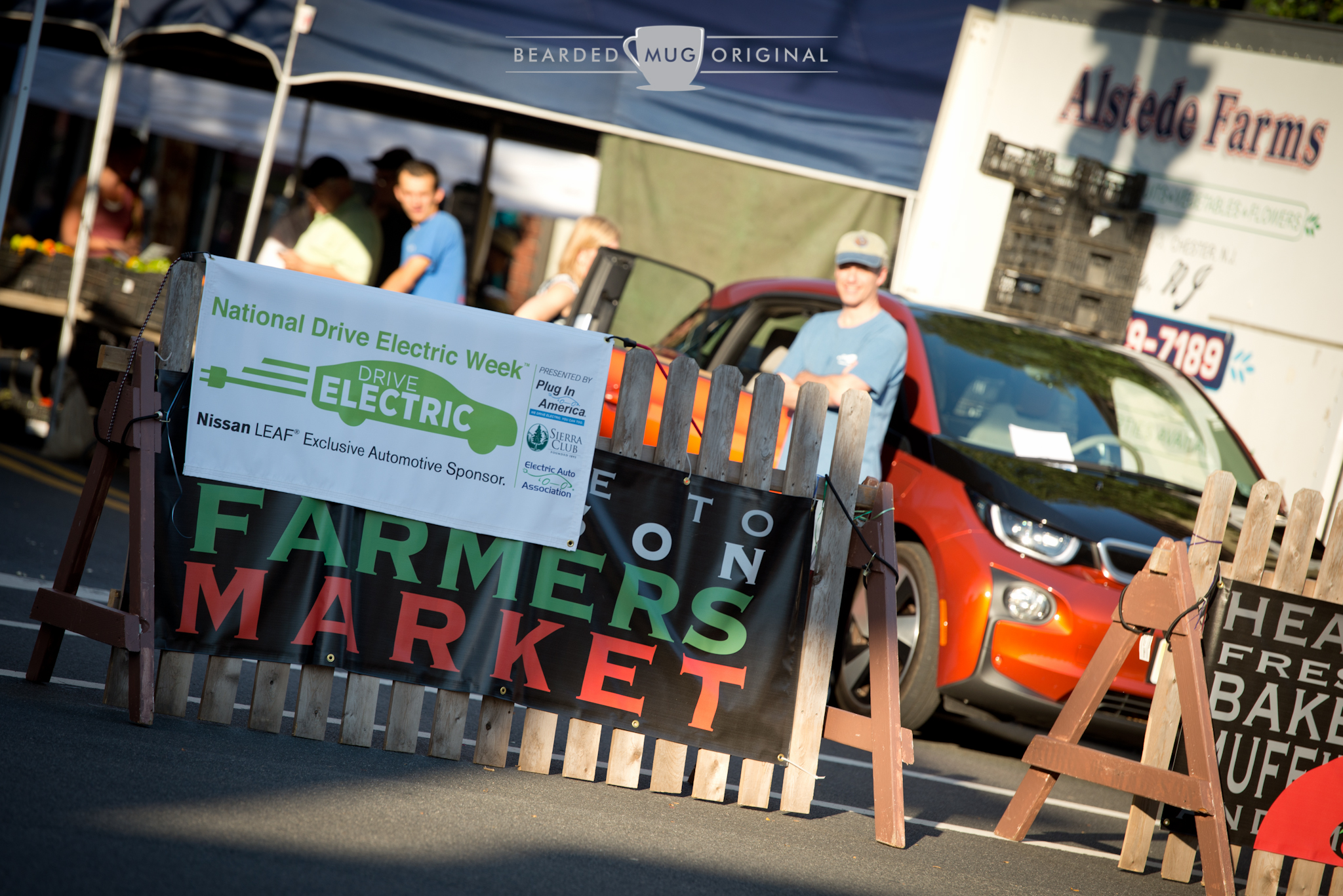 Electric cars were a welcomed enhancement to the Madison Farmer's Market.
