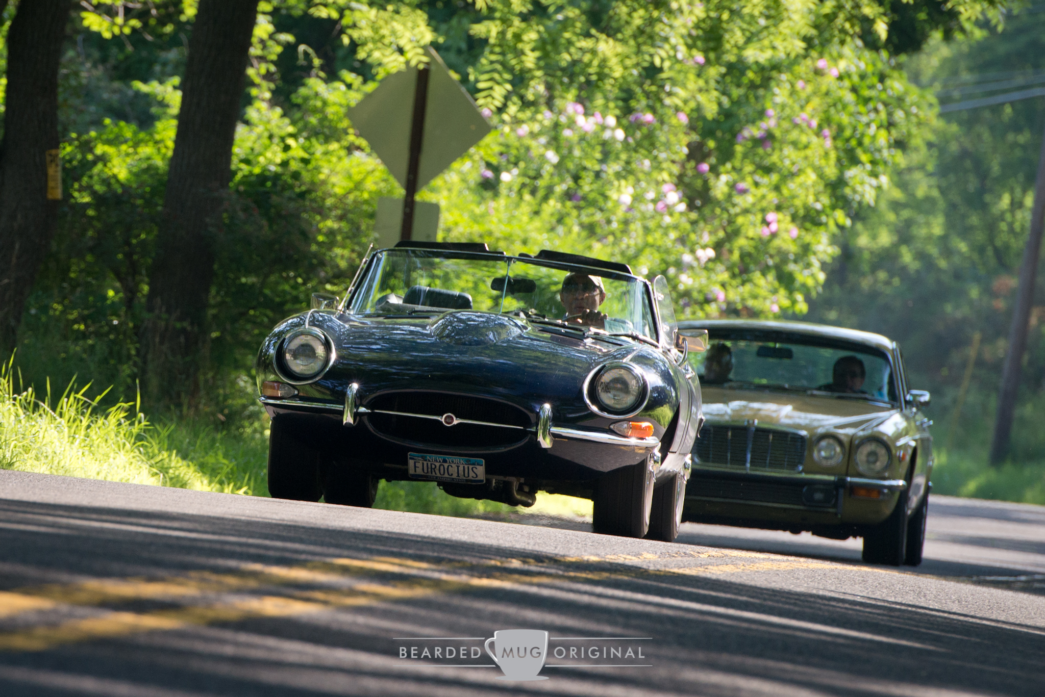 The perfect weather for the Jag is a sunny day to allow George to soak up that vitamin E, I mean D.
