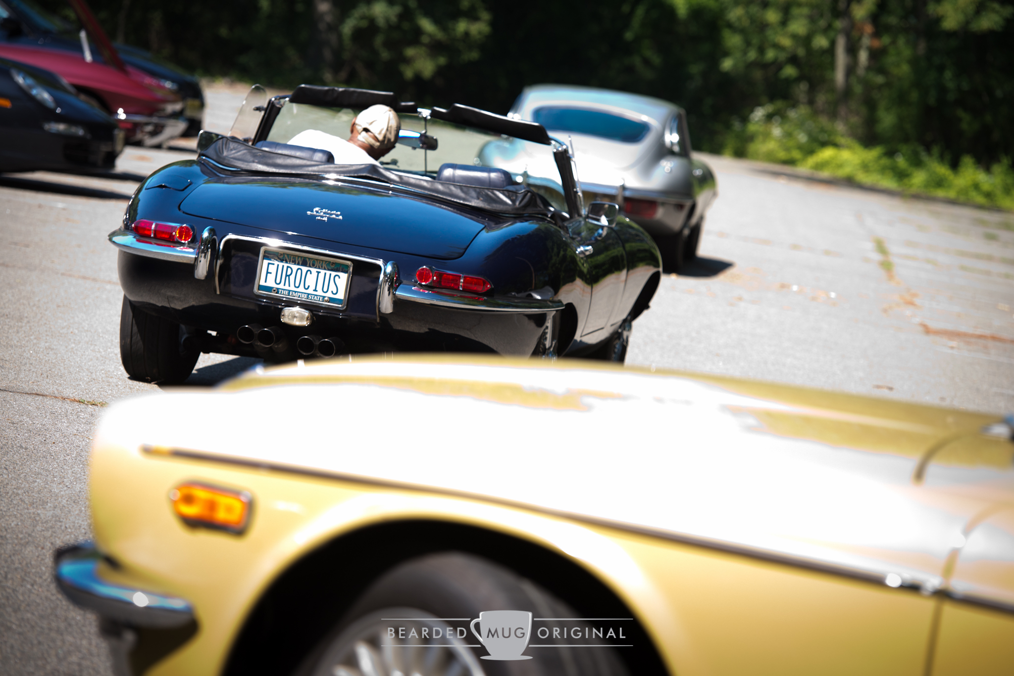 George can often times be seen cruising with other Jaguar owners, which makes for quite the coordinated sight to behold.