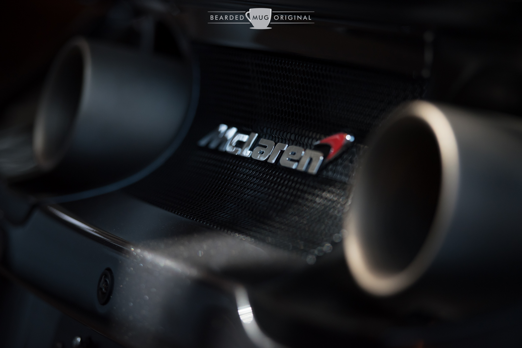 The fun pipes of the McLaren 675LT on display.