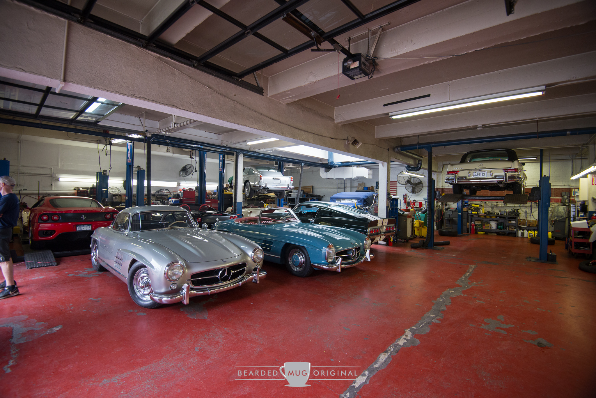Inside the shop of Carriage House Motor Cars...take a good look or else you might miss some special treasure hiding in a corner.