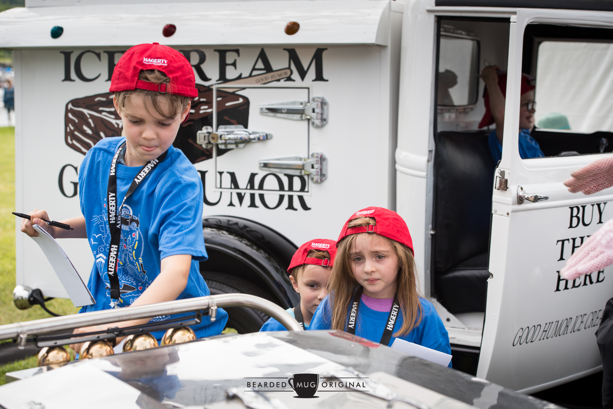 The Hagerty Youth Judges got an opportunity to sample the bells of the adjacent ice cream cart while critiquing the Good Humor truck.