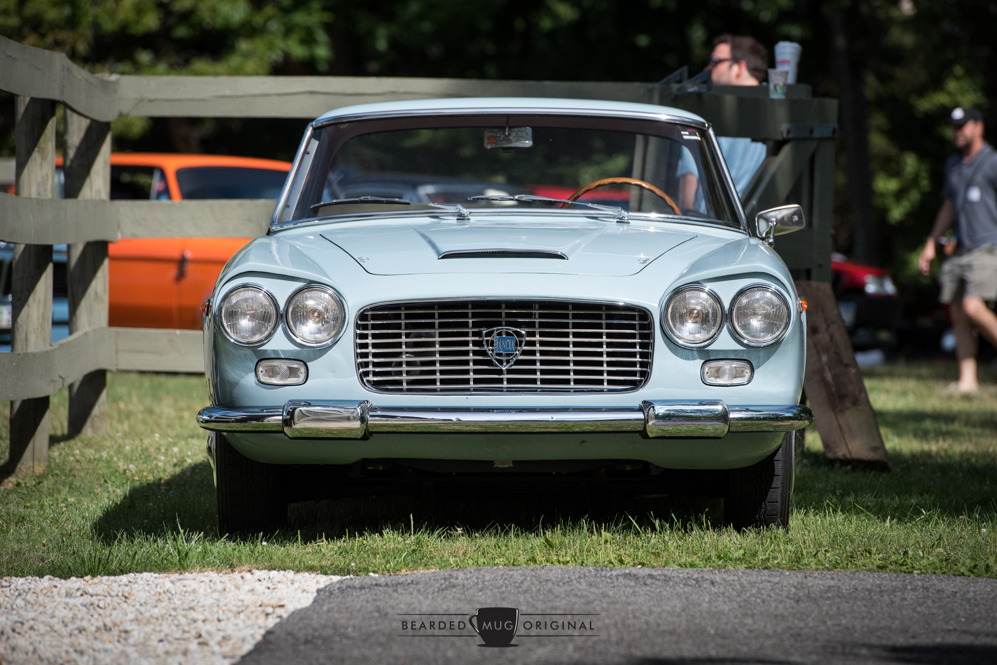 """Domenico's 1961 Lancia Flaminia coupe GT 2.5L with all aluminum coachwork by Touring will be on display at the Sunday in the Park Concours at Lime Rock during the Historics weekend. According to Santo, """"dad traded Sergio Franchi for this car in return for an engine job on a Lancia Aurelia Spider America...It was an unmolested 20 km car...that was in 1982. It was a treasure for dad."""""""
