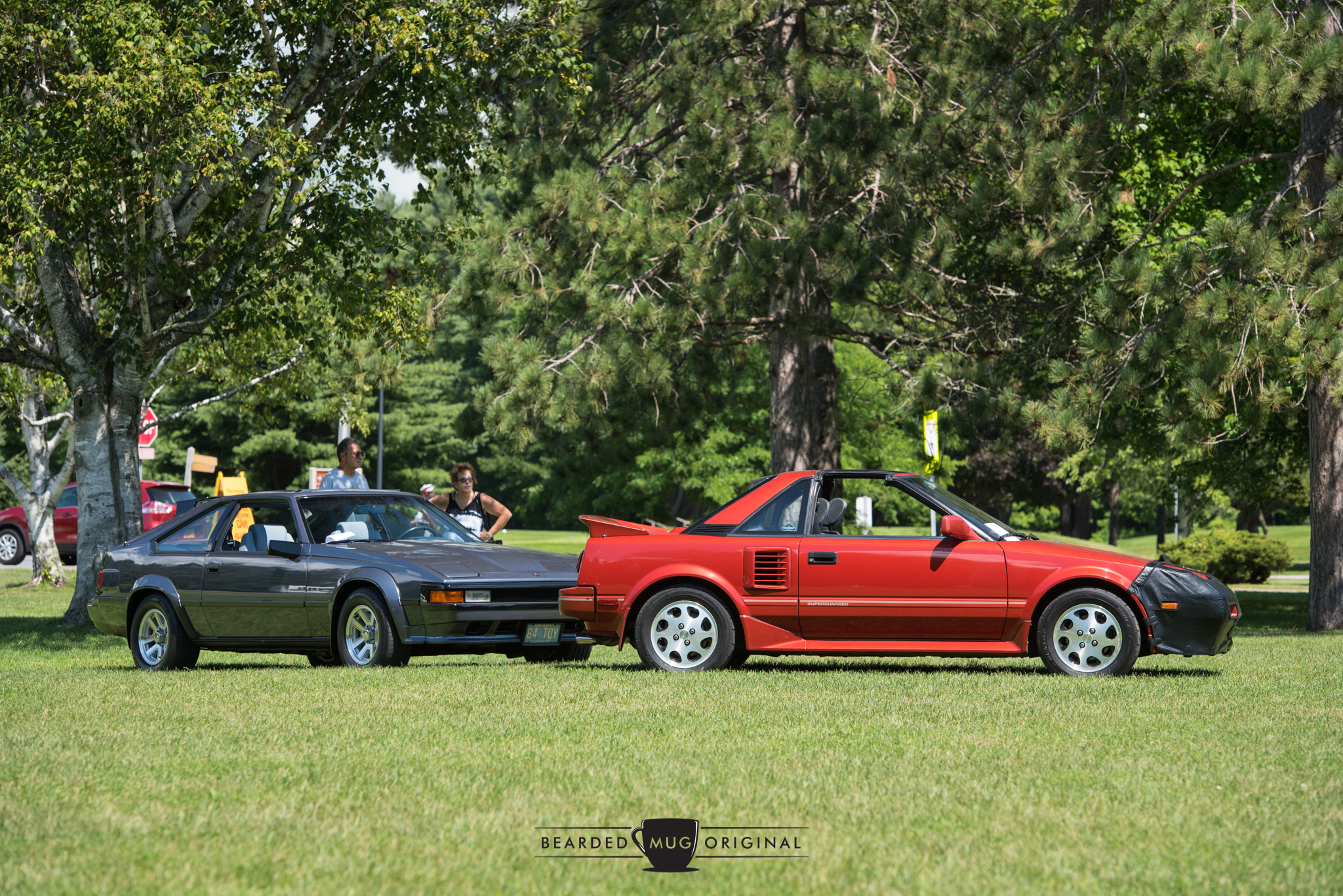 Greg's 1984 Celica Supra (above l.) and Gib's '84 were both in top-notch condition. Steve's MR2 is another local car that sees regular use, although I've only spotted it around town once.