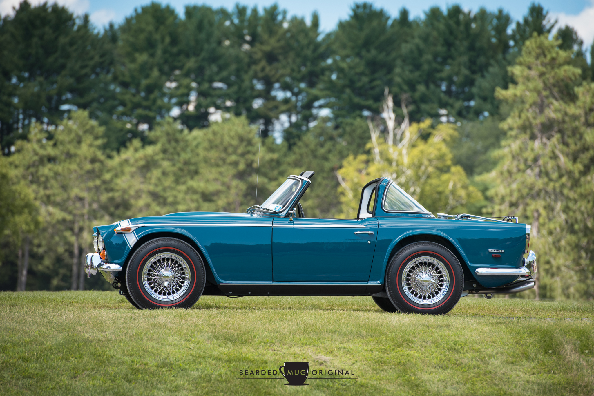 A triumphant achievement: The 1968 Triumph TR250, owned by Jim Whalen,earned and deserved the top honors,the Best in Show.