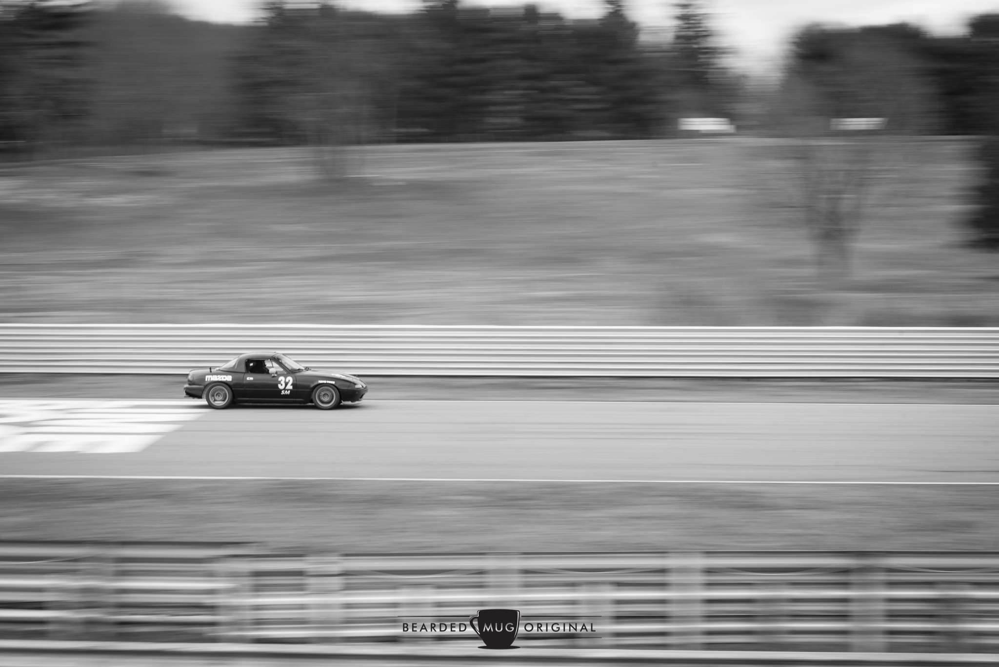 Little Miata on a big straightaway.