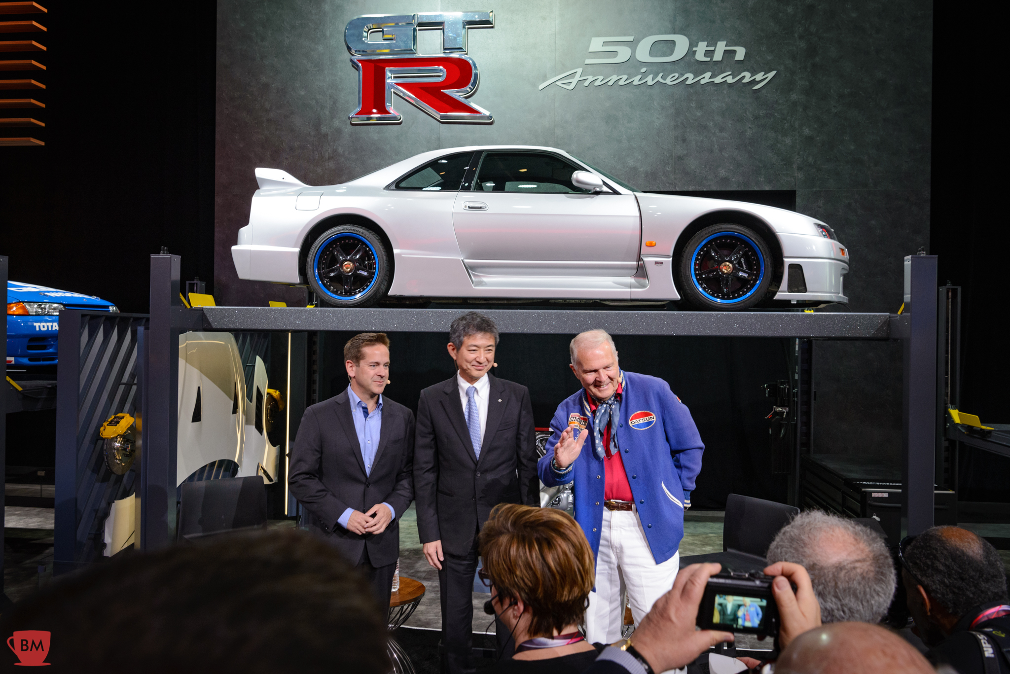 Peter Brock was one of the featured guests during a Nissan press conference at the NYIAS.
