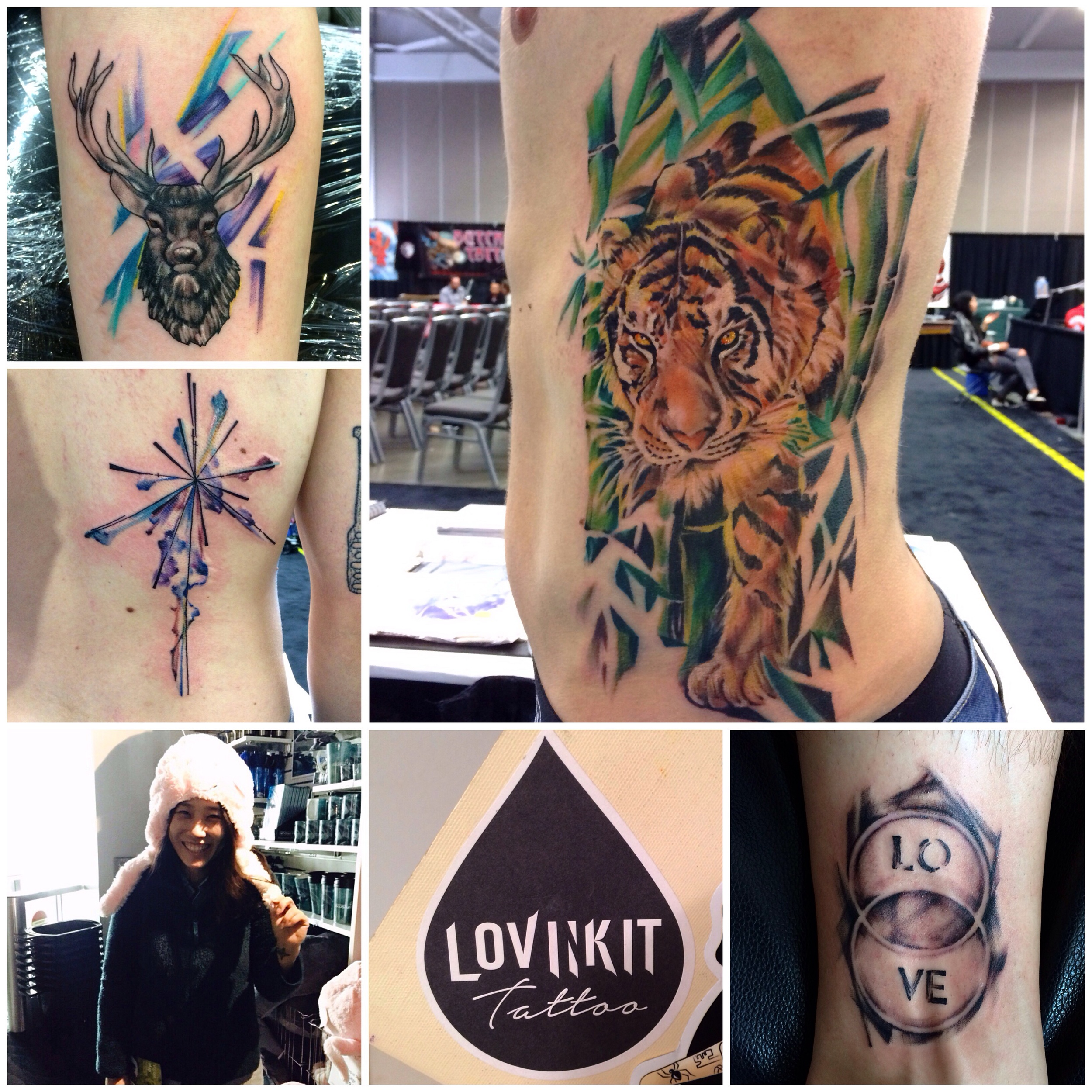 Jayers: @vancouvertattooshow was such a blast. Thank you everybody! Till next year! #vancouvertattooshow #vancouvertattoo #hongkongtattoo #lovinkit #tattoo #ladytattooer #tigertattoo #painttattoo #brushtattoo #watercolourtattoo #multimedia #oilpaintingtattoo