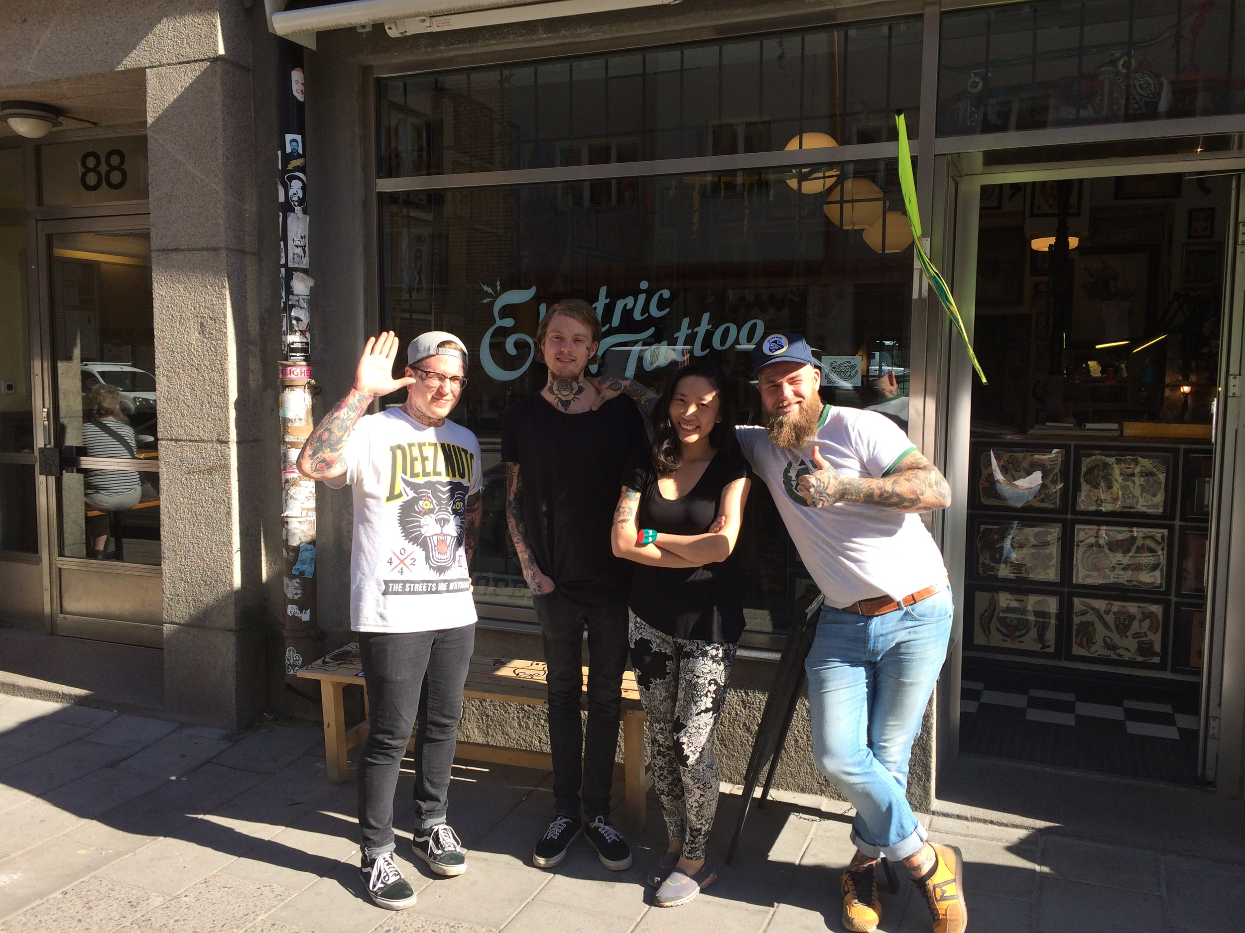Super nice people at Electric Tattoo, Stockholm. Jayers did a short guest spot there on 10-11June 2015 and is pretty sure she will return for a longer spot in the future because they are soawesome!!