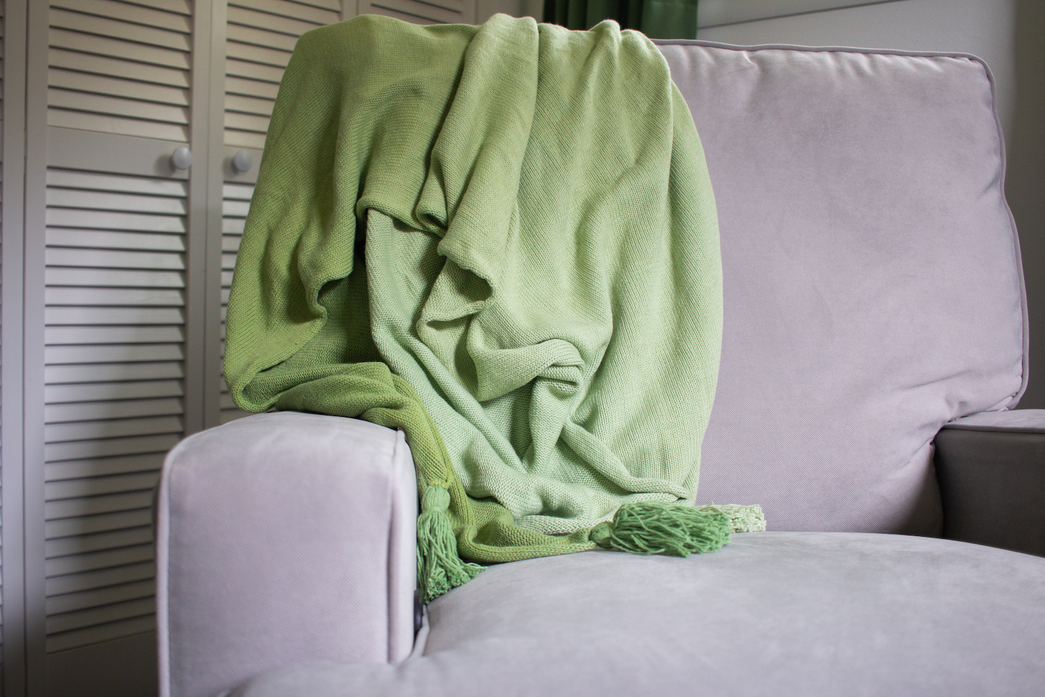lorena canals green ombre blanket