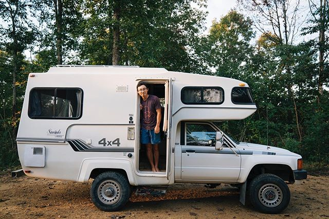 """We met @liveworkwander via the internet about a year before we went on the road. Owen reached out to them in hopes of getting some advice about """"Vanlife"""" as we were looking to start our own life on the road. They were more than helpful and even planned to meet up as soon as they came to ATL. Our in-person connection was instant and we've been thick as thieves ever since. Now, we are honored to be peers, the road has brought us so close together despite the many miles that usually separates us.  After coming to the conclusion that we needed to sell our Westy, we purchased a 4x4 Sunrader and started our journey east to start the build. That transition was not easy and came with a lot of heartbreak. At the same time Jorge and Jessica were coming to a similar realization about their Westy and it resulted in them joining us on our journey east in a new brand new 4Runner purchased just hours before.  We were all mourning, at a loss because our hard fought plans were no longer working, but the passing miles and long philosophical conversations brought clarity to the chaos we were all experiencing. Life on the road isn't easy, but having good friends to keep a smile on your face despite the circumstances is what kept us all going. Jorge & Jessica, we love you and are so happy to see you all back and doing what you do best. You bring us, and so many a helluva lot of joy. Their new season(3) Travel Series is finally live. Link in the bio"""