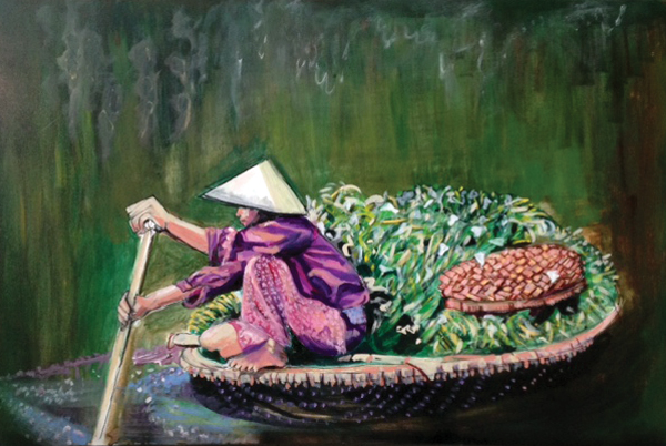 VIETNAMESE WOMAN ROWER