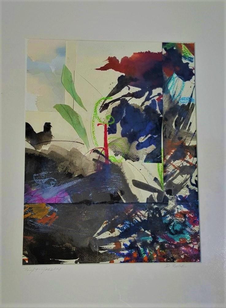 "Night Garden""  Mixed media - collage"