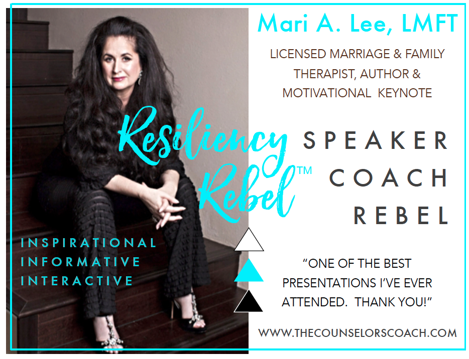 Mari A. Lee, The Resiliency Rebel Media Kit Page 1