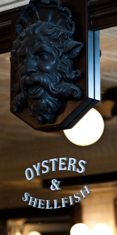 Oysters & Shellfish - Outside Building Detail