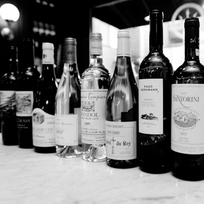 Wine Selection at Neptune Oyster