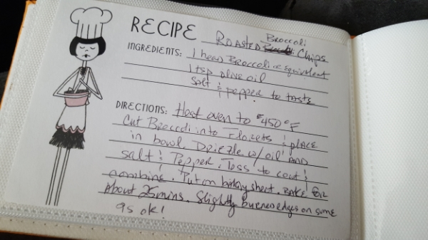 Isn't my recipe card the CUTEST! I love writing on these cards :D.