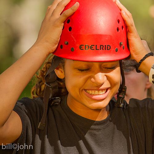 Teenagegirl high-ropes