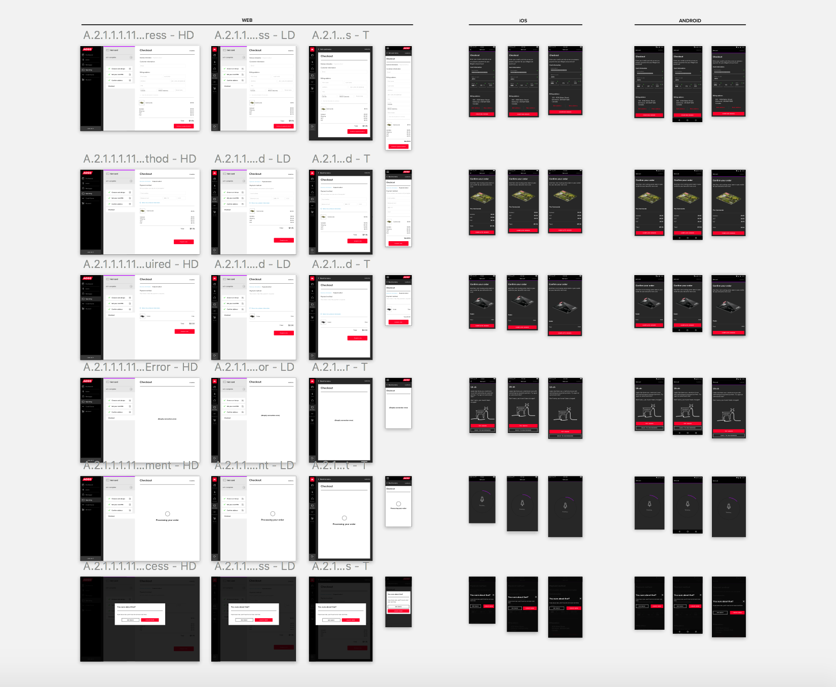 Example of how I designed for multiple screen sizes/platforms.
