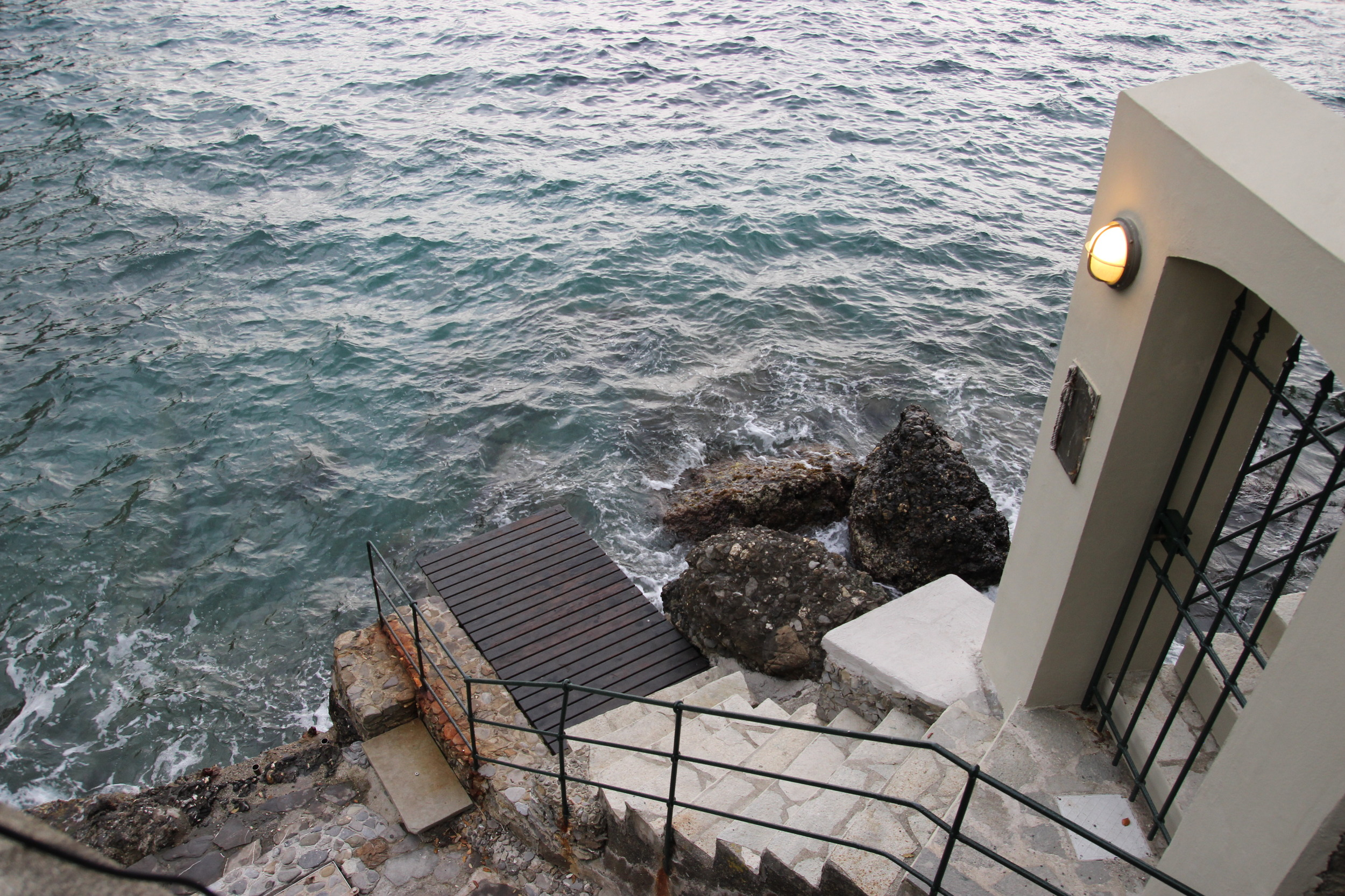Going for a dip  Access to the rocky beach from Villa Domina Home Piccolo
