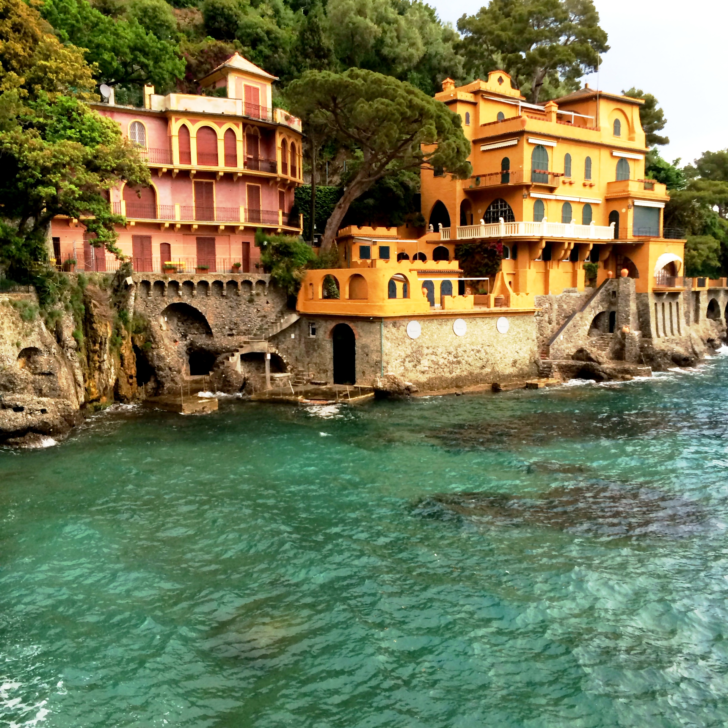 Portofino  Gorgeous cliffside homes