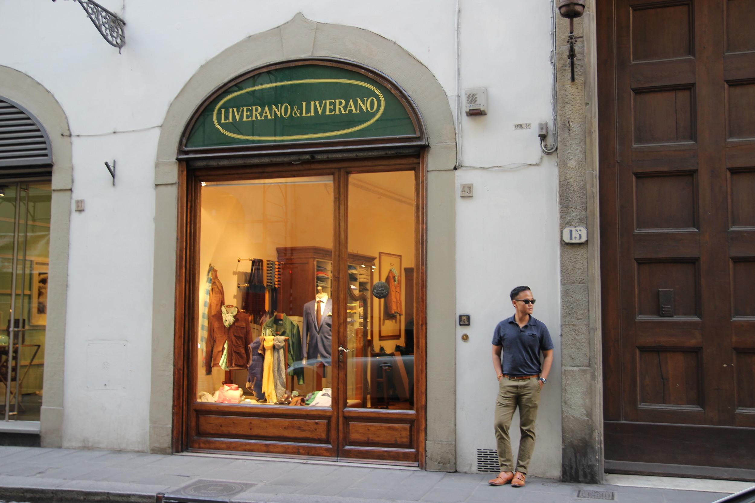 FLORENCE  Jon pays pilgrimage to the Sartorio di Liverano & Liverano.