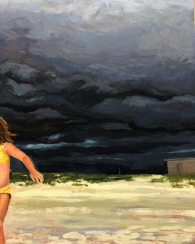 Building up some stormy summer skies... . .  #wip #guache #painting #art #artist #artistsoninstagram #clouds
