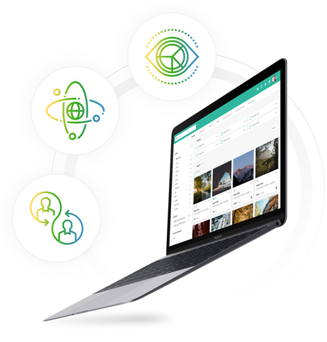 Share content with the right people - A single source for digital assets gives you the power to publish relevant digital content quickly on customer-facing digital channels. Your website, brand portal, video portal, CRM, and PIM etc. are always connected to our DAM software.