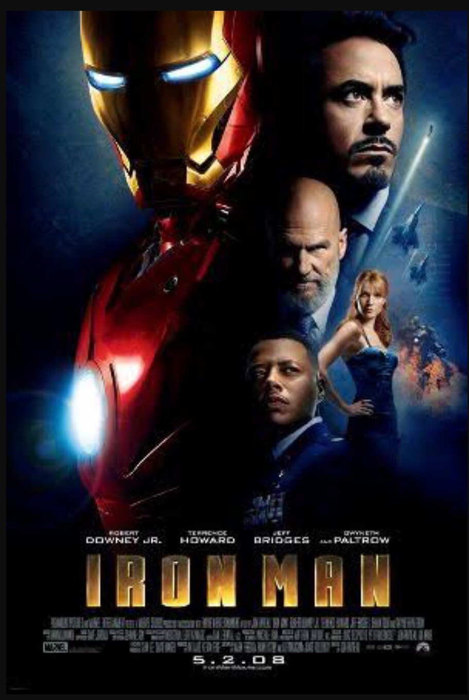 Iron Man movie poster  Images may be subject to copyright