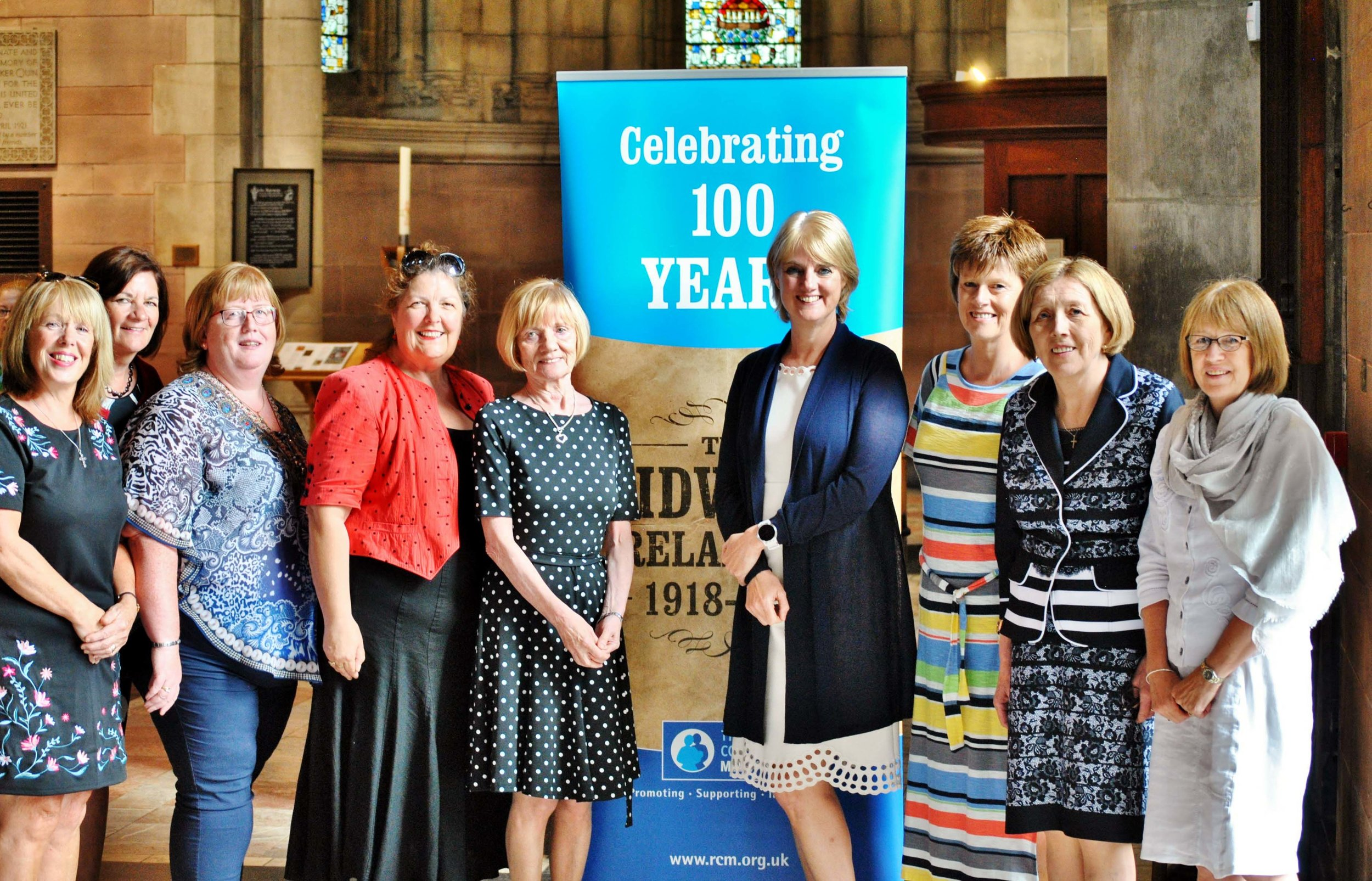 Members of the Royal College of Midwives who organised the Midwives100 service in Belfast Cathedral earlier this month (Photo: Joe Paulin)