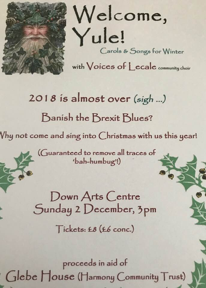Voices of Lecale Charity Concert - 2 December 2018Down Art's CentreA lovely way to bring in the festive season.