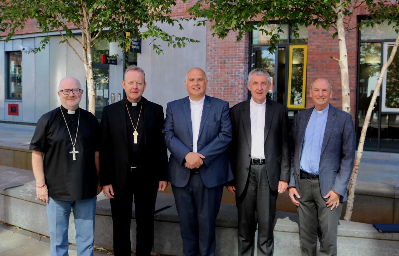 From left: Archbishops Richard Clarke and Eamon Martin, the Revd Brian Anderson, the Rt Revd Charles McMullen and the Revd Billy Davison