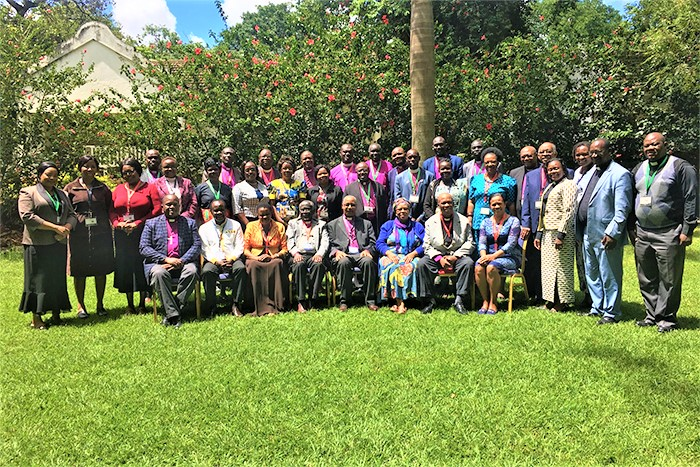 Bishops and spouses who participated in the CAPA orientation in Kenya