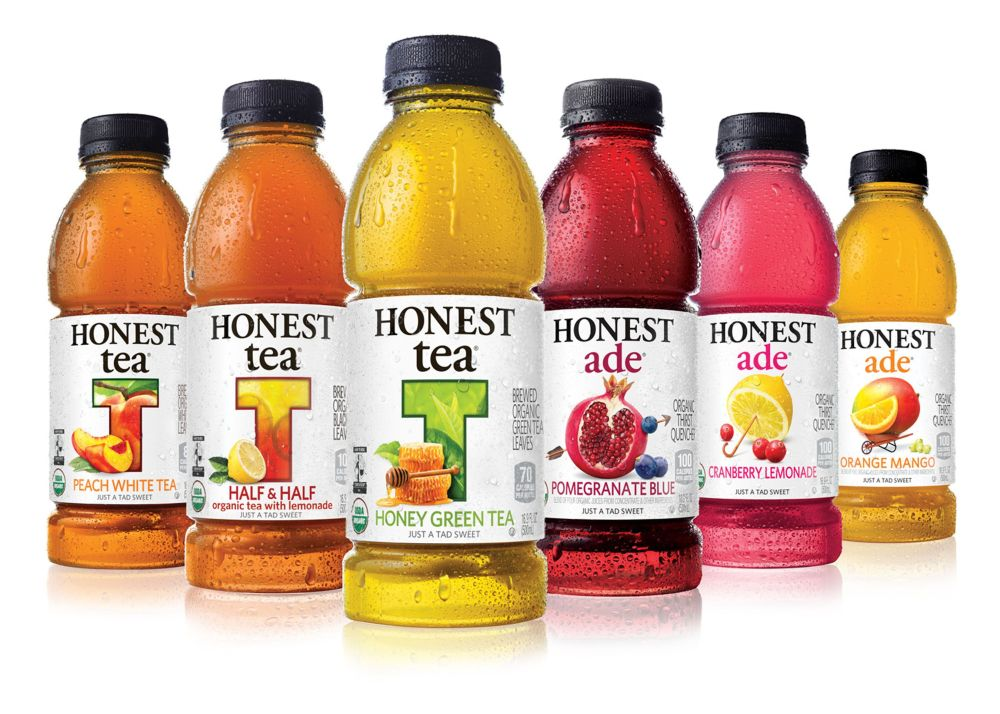 A selection of Honest Tea products