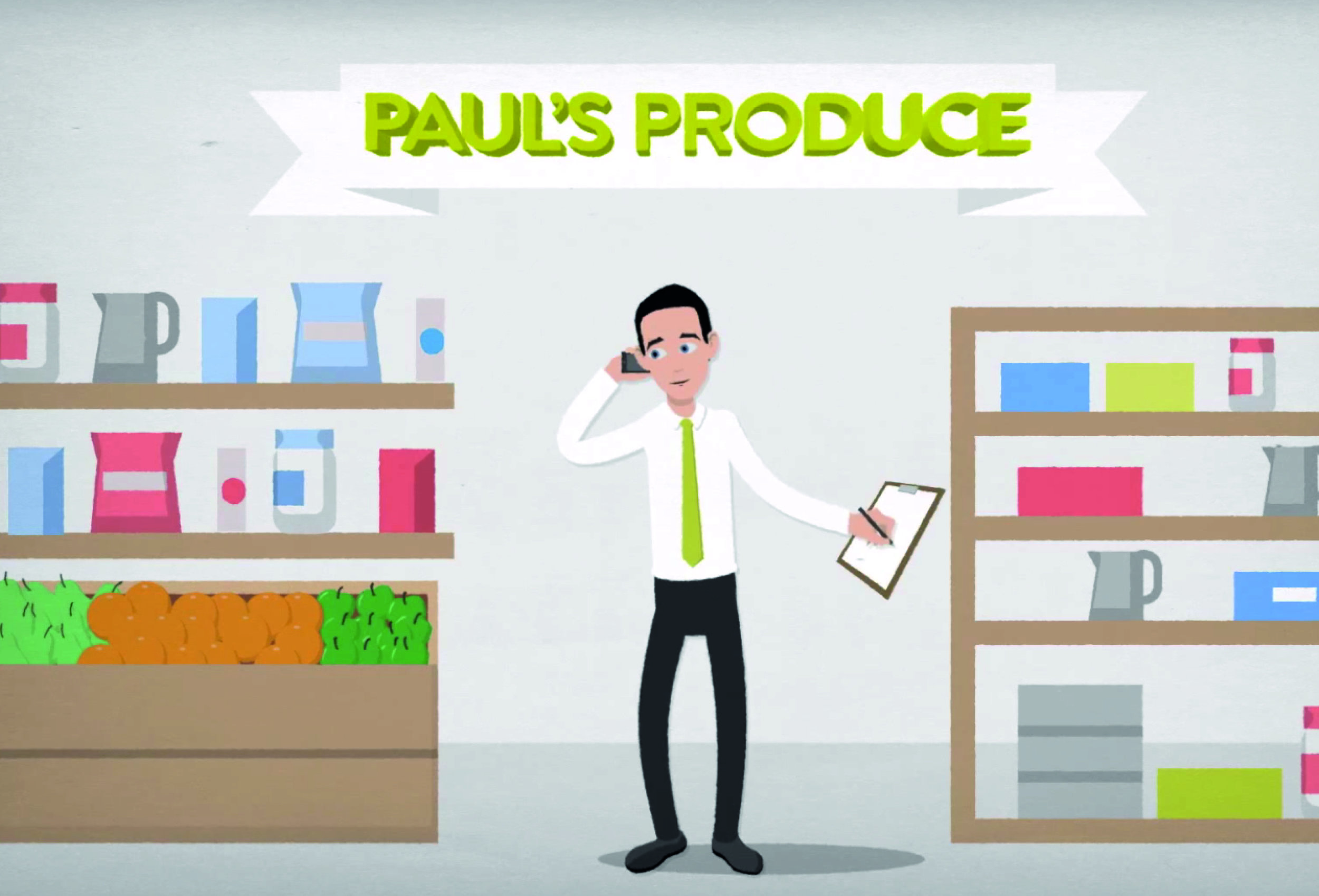 A still taken from Takestock's explainer video