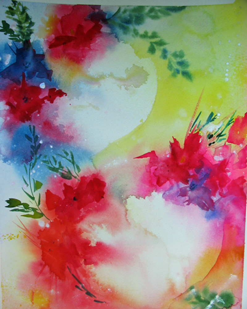 Two Worlds Intuitive painting