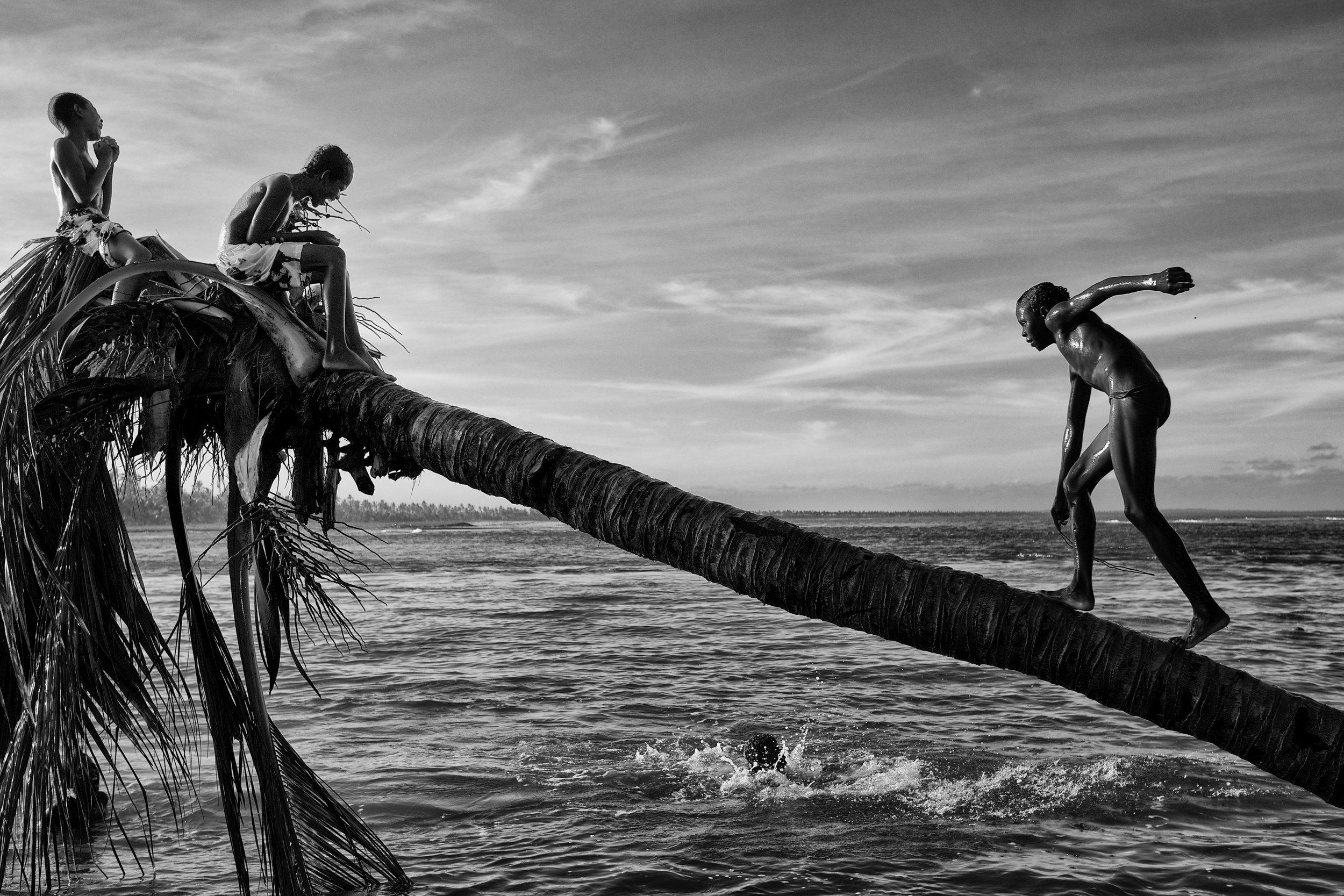 Boys bathing, Bahia, Brazil, 2012