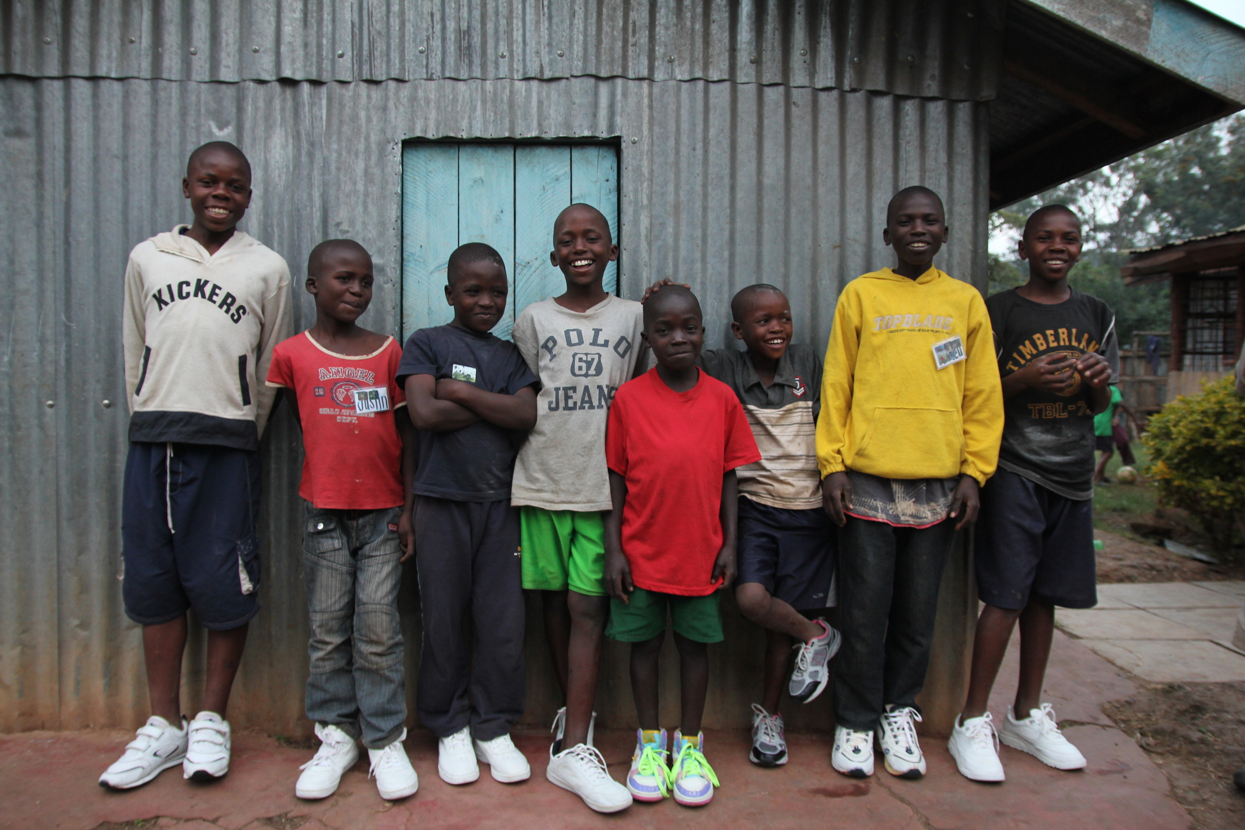 Some of the first boys at Maridhiano Home