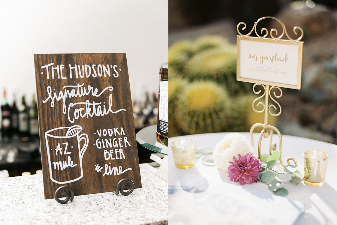 Hand Lettered Day of Signage + Details