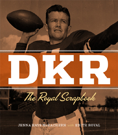 """Limited Edition, Signed by Coach Royal and Edith Royal, October 2012. $250.00. Sold by the Texas Exes. Royalties go to """"Friends of DKR 40 Acres Scholarship""""."""
