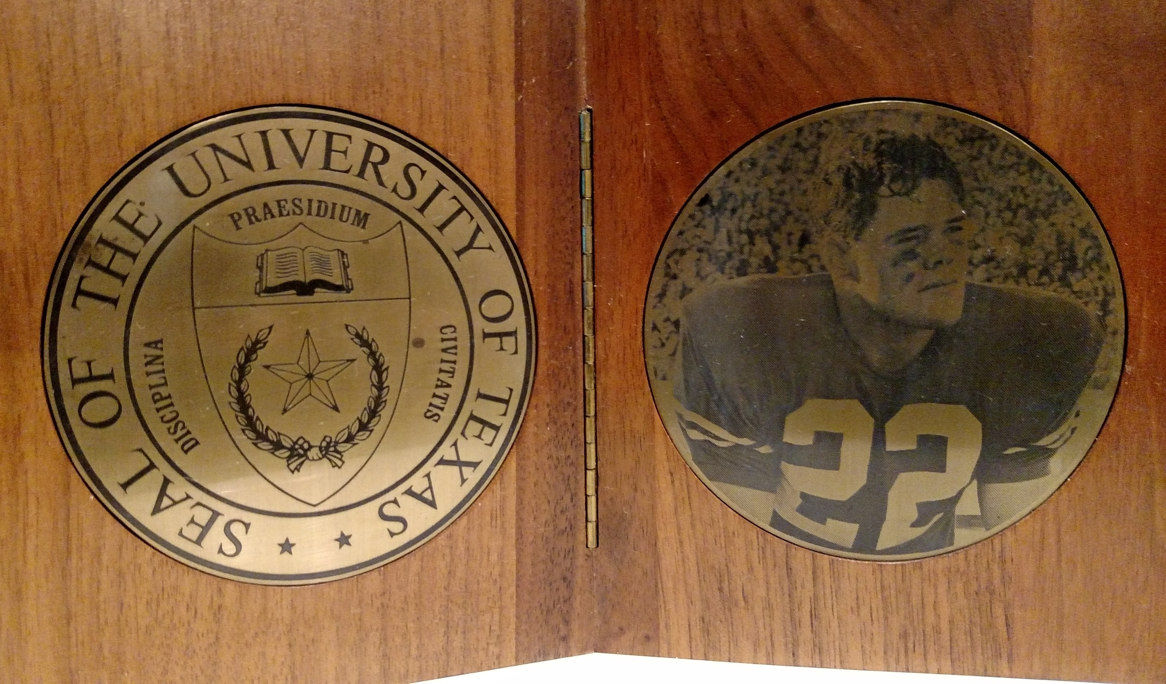 Inside of Plaque presented by Texas Ex-student Association